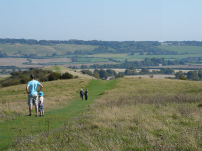 Chiltern Hills in England