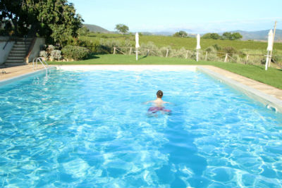 Outdoor pool set in countryside