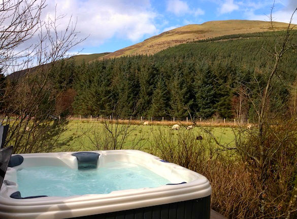 Wonderful Countryside Views from Darling How's Hot Tub