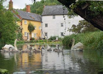 Historical watermill with an idyllic setting near Bury St Edmunds
