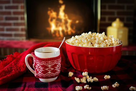 Popcorn by the fire
