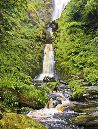 The majestic Pistyll-Rhaeadr waterfall