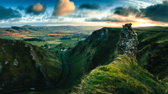 The Peak District's Winnats Pass