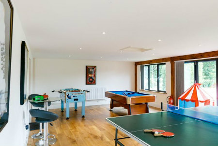 Games room for fun holidays