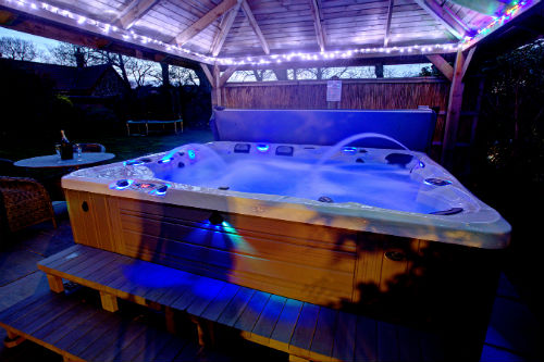 Bubbly hot tub