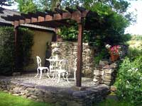 cottage in wales with patio