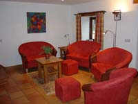 Clew Park Cottage lounge, cottages in Devon with plasma screen TV in communal area