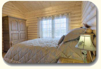bedroom log cabin