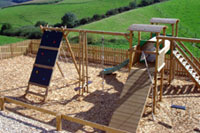 playground at these comfortable 4 star cottages in South Molton north Devon