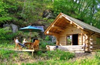 fishing and log cabin holiday