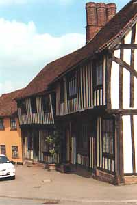 medieval half timbered houses line many roads, stay in a country cottage near Lavenham to take time to explore on your holiday