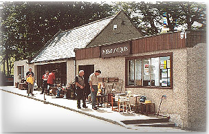 antiques on holiday in Mossat, Scotland