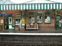 Sheringham Station on the North Norfolk line for steam train trips to Holt