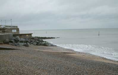 Sheringham beach on the north Norfolk coast where there are many self-catering holiday homes and cottages