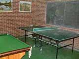 games room self-catering holidays
