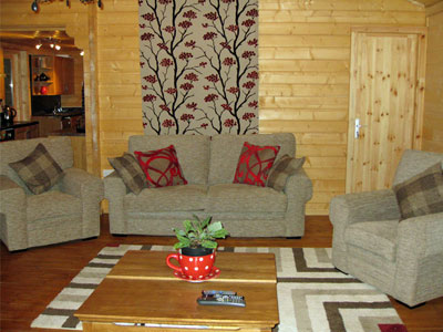 lounge log cabin for holidays