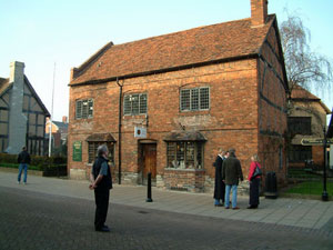 The house where Shakespeare was born