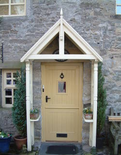 Small country cottage doorway