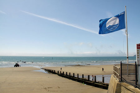 Blue flag beach Isle of Wight, Yaverland