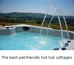 luxurious dog friendly cottages hot tub