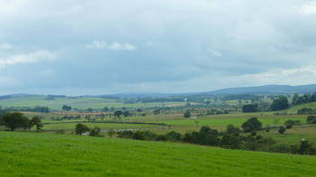 Breathtaking countryside in Northumberland National Park