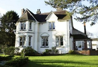 Large country house with gardens Powys