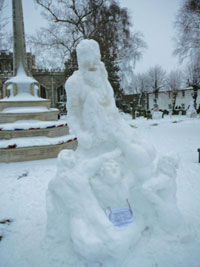 Snow sculpture in Chiltern Hills