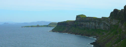 Impressive Cliffs at Staffin, Skye