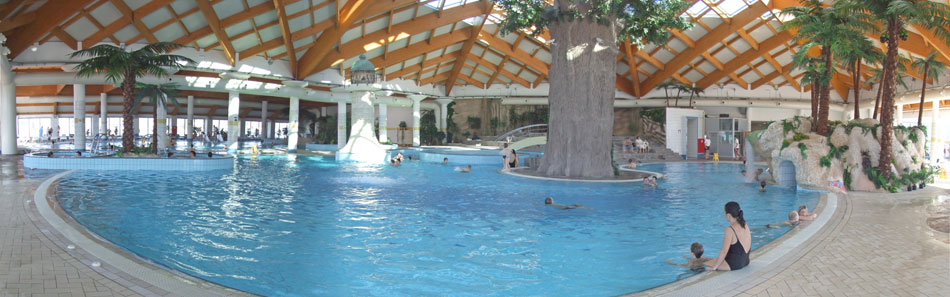 holiday park with swimming pool