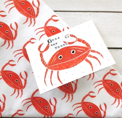 Lucky Lobster tea towels