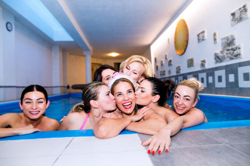 Hen party in pool