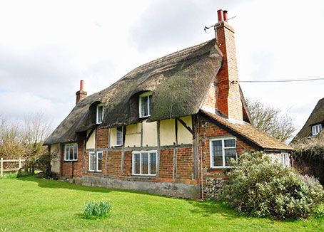 Thatched rural cottage